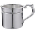 """Cunill  .925 Sterling Pearls Sterling Baby Cup - H: 2 1/8"""" x Dia: 2 3/8"""""""