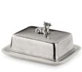 """Cunill Pewter Porcelain Butter Dish 5.5""""x6.5""""x3.5"""""""