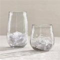 $16.00 Textured Tall Beverage Glass