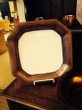 $112.00 Copper/White Enamel Sq PLatter