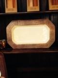 $105.00 Copper/White Enamel Rect Platter