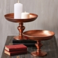Two's Company Large Copper Pedestal