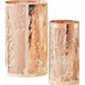Two's Company Copper Cut Tree Lg Candle Holder