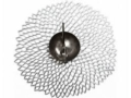 Chilewich Silver Pressed Dahlia Round Placemat