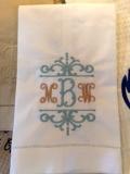 Saro Designs Decorative Monogrammed Towel