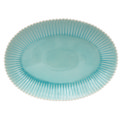 Costa Nova Pearl - Aqua Oval platter (w/ Gift Box)