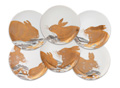 Caskata Rabbits - Gold & Platinum Canapes Mixed Boxed Set/6