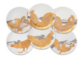 Caskata Roosters - Gold & Platinum Canapes Mixed Boxed Set/6