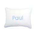 65 Personalized Blue Seersucker Stripe Baby Pillow