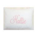 65 Personalized Pink Seersucker Stripe Baby Pillow