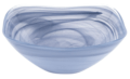 "Contemporary Concepts Exclusives Badash Soft Blue Alabaster Square Glass 10"" Bowl"