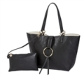 72 Reversible Ring Tote-Black/Creme