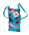 26 Aqua Floral Cell Phone Holder