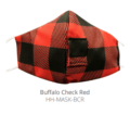 12.5 BUFFALO CHECK RED FACE MASK