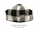 12.5 BUFFALO CHECK  WHITE FACE MASK