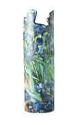 "Dartington Crystal  John Beswick Ceramic Vases Vincent Van Gogh ""Irises"""