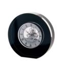 Dartington Crystal Clocks Round Clock Black