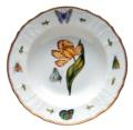 Anna Weatherley Old Master Tulips Yellow & Red Tulip Rim Soup Plate