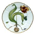 Anna Weatherley Flowers of Yesterday Yellow Red Tulip Dinner Plate