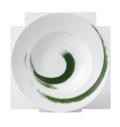 Royal Crown Derby Brushstroke - Green Rimmed Bowl