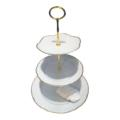 Anna Weatherley  Simply Anna - Gold 3 Plate Tiered Cake Stand