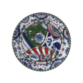 Royal Crown Derby Victoria's Garden - Blue, Green & Red Full Cover Plate 10.7