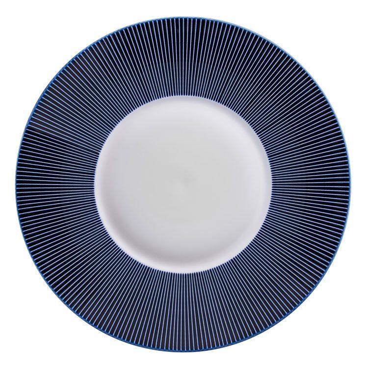 Jaune de chrome Blue Bread and Butter Plate