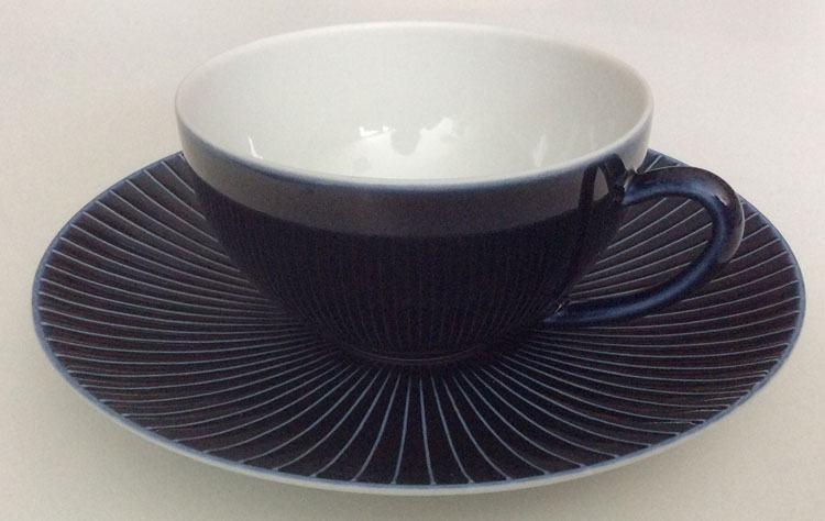 Jaune de chrome Blue Tea Saucer