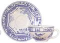 Gien Oiseau Blue & White Breakfast Saucer
