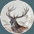 Dessert Plate - Stag