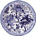 Gien Pivoines Bleues Cake Platter