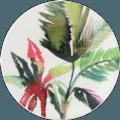 Gien Jardins Extraordinaires Vegetal Canape Plate - Red