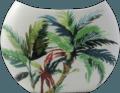 Gien Jardins Extraordinaires Vegetal Halfmoon Vase, Large