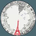 Gien Ca C'est Paris! Cake Platter