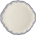 Gien Filet Cobalt CAKE PLATTER