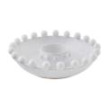 44.95 BEADED WHITE CHIP AND DIP BOWL SET
