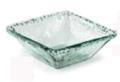 Primitive Artisan Iceberg Glass Med Square Deep Bowl