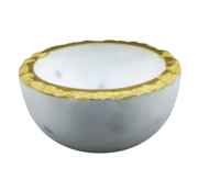 24.95 Bowl with Gold Edge with White Marble Inside