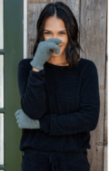 Barefoot Dreams CozyChic® Gloves  Agave Green