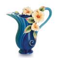 $275.00 Teapot, Hibiscus (blue)