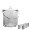 Fischer Evans Exclusives Ice bucket and tongs, personalized