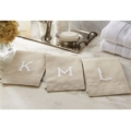 Fischer Evans Exclusives French knot initial towels