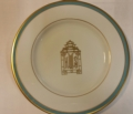 $71.00 Signature Salad w/ blue and gold rim + Halo Home Pagoda monogram