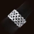 $135.00 Platinum Braid Napkin Rings s/4