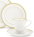 $88.00 Signature White/Gold Cup and Saucer