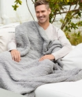 198 Boucle Throw Dove Gray