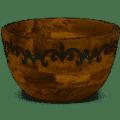 119 Deep Serv Bowl Wood /Metal
