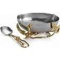 $125.00 Enchanted Garden Nut Bowl/Spoon