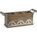 GG Collection Flatware Caddy Wood/Metal