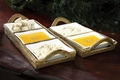 Calaisio Rect. Tray/Hndl/2 Sq. Glass Dishes